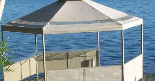 Martha Stewart Melrose Hexagon Gazebo Replacement Canopy