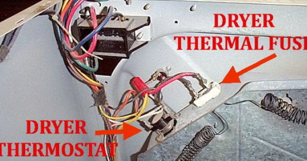 Dryer Not Heating Check Dryer Thermal Fuse On Back Dryer Cleaning Dryer Thermal