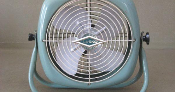 Antique Vintage Lasko Electric Round Industrial Floor Fan