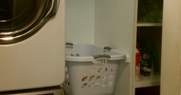 Laundry Room Organize With Stacked Washer And Dryer