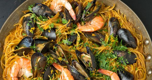 Catalan Fideua. A Spanish dish like Paella.