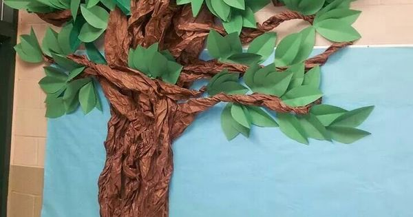 tree made out of paper