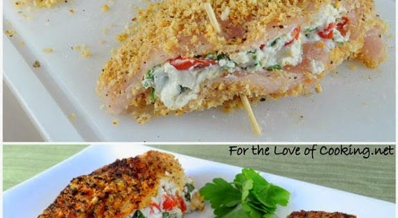New Food & drink: Panko Crusted Chicken Stuffed with Ricotta - click ...