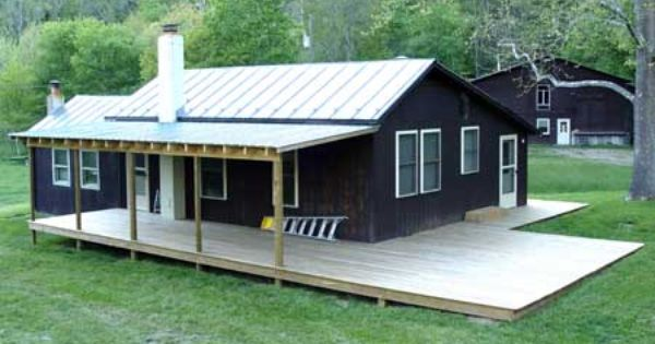 Complete Building A Porch Cabin Porches Tin Roof