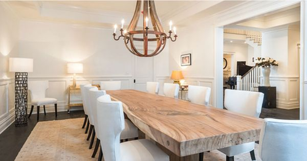 Solid Wood Thick Dining Table Herman Furniture Singapore