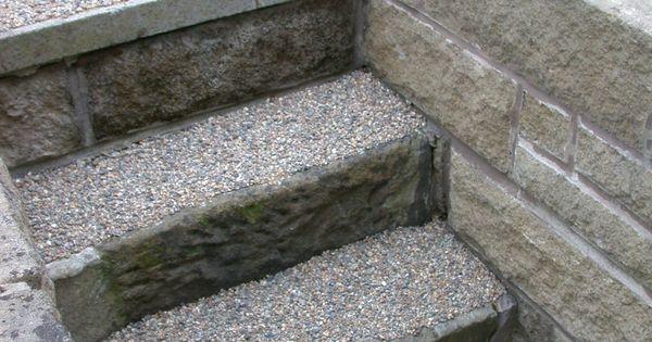 Resin Bonded Gravel Steps Anti Slip Surfacing For