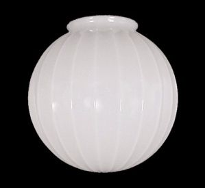 Ribbed Ball Milk Glass Light Shade Globe 4 X 10 X 10 Ceiling Pendant Shades Glass Light Shades Replacement Glass Lamp Shades Antique Light Fixtures