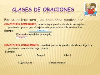 Diapos La Oracion Gramatical Education