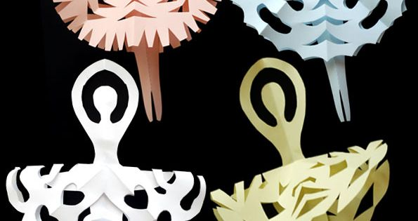 DIY: Snowflake ballerinas. Cute Christmas paper craft