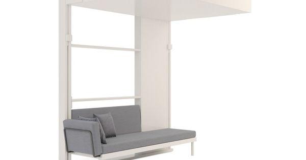 Dkl vous rangez votre lit au plafond pour profiter de for Lits escamotables plafond