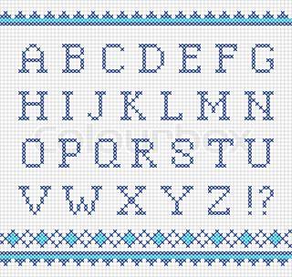 Sticken Alphabet Buchstaben Sticken Kreuzstichbuchstaben Alphabet Sticken