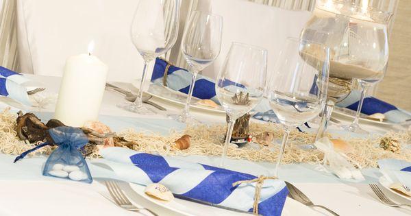 maritime tischdeko mit vielen abgestimmten dekoelmenten maritime. Black Bedroom Furniture Sets. Home Design Ideas