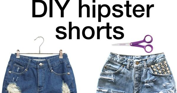 DIY highwaisted shorts- Rips: try shorts on, mark where you want them,