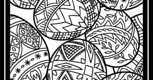 Easter Coloring Pages Advanced : Paaseieren advanced coloring easter pinterest adult