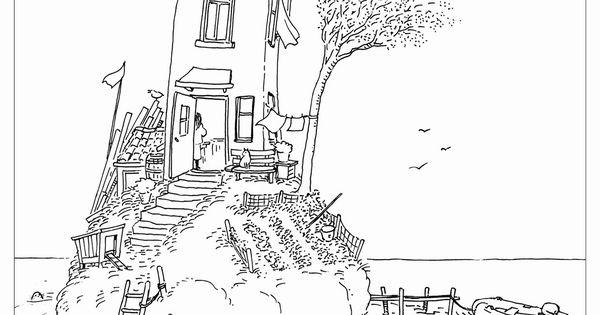 Kleurplaat souwtje het huis op het eiland coloring pages kleurplaten pinterest doodles - Lay outs rond het huis ...