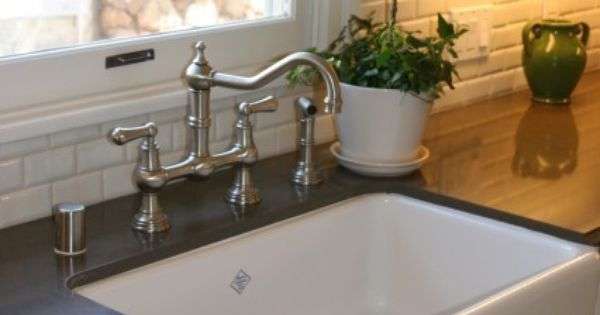 Rohl Farmhouse Sink And Bridge Faucet Kitchen Redesign