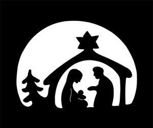 Weihnachtsfest Scherenschnitt Weihnachten Weihnachten Schattenbilder Weihnachtsschablonen
