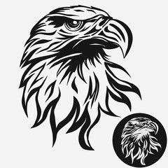 Eagle Head With Tribal Feathers Vector Image Adobe Stock Eagle Head Tattoo Eagle Drawing Eagle Vector