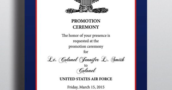 Military Style Promotion Recognition Elegant Professional