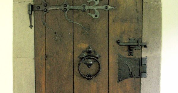 Medieval Tudor Door With Strap Hinges And Latch Oude Kerk