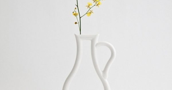 silhouette flower vase designed by Y. Tokuda via MJOLK