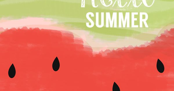 Watercolor Summer Print