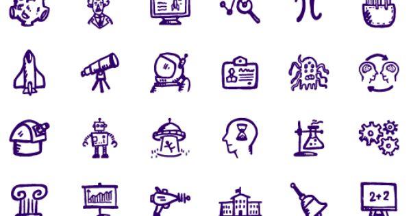 Education Icons Freebies Brainy Icons 280 Hand Drawn Science