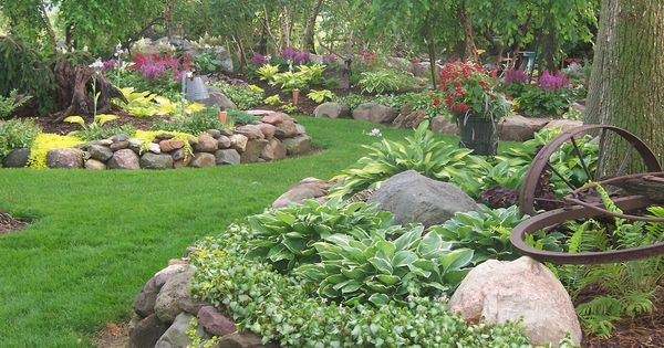 100 1666 landscape design landscaping gardens shade for Rock garden designs shade