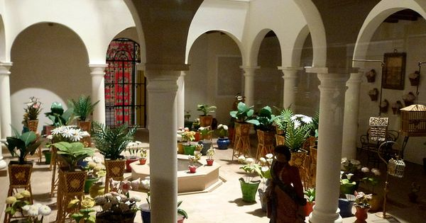 Mexican Courtyard Tableau At Folk Art Museum By Gmeador Via Flickr
