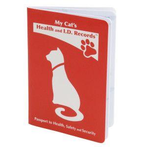 My Cat S Health And I D Records Passport Cat Health Health Calendula Benefits