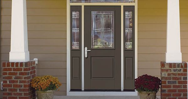 Therma Tru Smooth Star Fiberglass Door Painted Black Fox