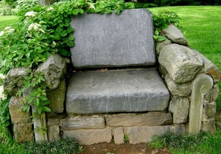 Armchair - exquisite natural garden seat - Hey, I've got rocks!