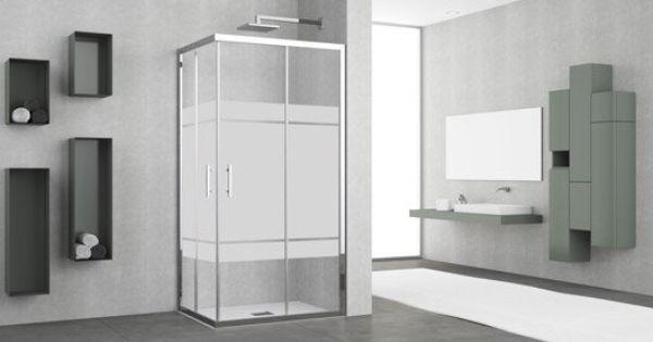 Porte de douche angle rectangle coulissante elyt salle - Recouvrir porte interieure ...