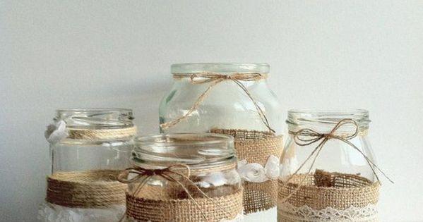 marmeladen gl ser verzieren mit sackleinen und spitze umgeh llt mv pinterest marmelade. Black Bedroom Furniture Sets. Home Design Ideas