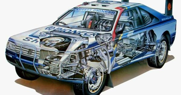 Peugeot 405 T16 Gr Cutaway S     Plus Google Com
