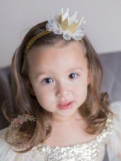 Fun Kids Baby Bows Hair Band Glitter Headband Birthday Party Flower Crown