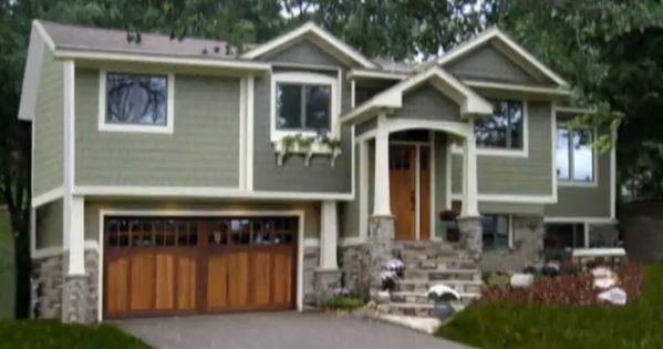 Stone Steps Split Level Exterior And Exterior Colors On