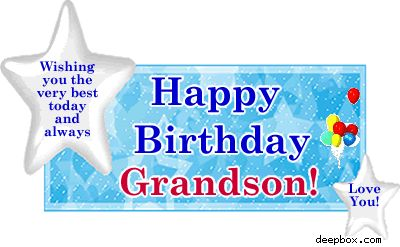 Happy Birthday Grandma Quotes From Grandson ~ Grandson birthday clip art happy myspace comment