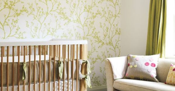 green nursery via decorpad Gender Neutral Nurseries; like this color green