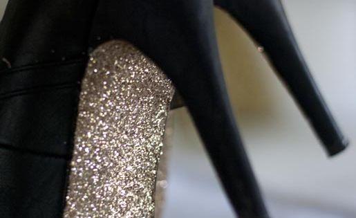 diy glitter sole heels