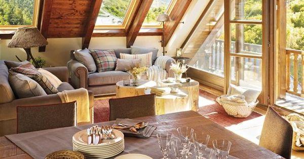 Un peque o refugio de monta a casas for Decoracion piso montana