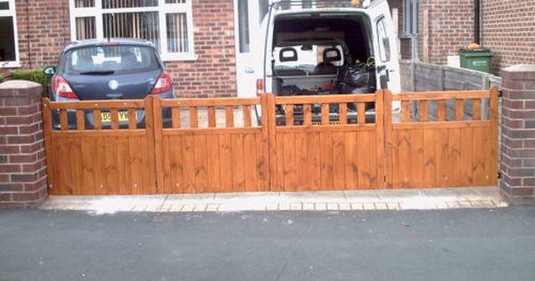 Wooden Driveway Entrance Cottage Style Gates Bi Fold 4 X10 Any Size Style 3 Ebay Wooden Garden Gate Wood Gates Driveway Driveway Entrance