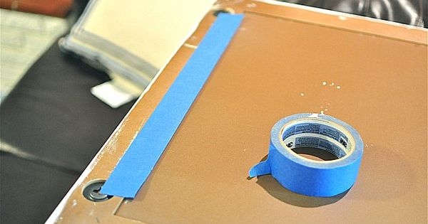 Use blue tape for measuring hole distance, than put tape on wall