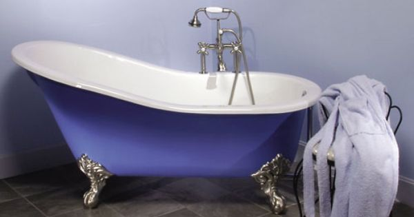 6 39 Long Hand Painted Slipper Claw Foot Tub My Dream Home S And Design