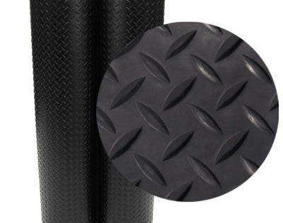 Rubber Cal Diamond Plate 4 Ft X 8 Ft Black Rubber Flooring 32 Sq Ft In 2020 Rubber Flooring Rubber Floor Mats Garage Floor Mats