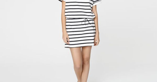 Sailor stripe dress oysho v r sommar kl der - Oysho deutschland ...