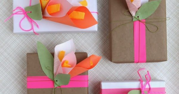 Lirios de papel para decorar envoltorios de regalo - Papel adhesivo para decorar ...