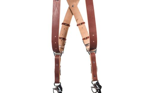 Holdfast Gear Money Maker Two Camera Harness With Silver Hardware English Bridle Chestnut Medium English Bridle Black Hardware English Bridle Leather