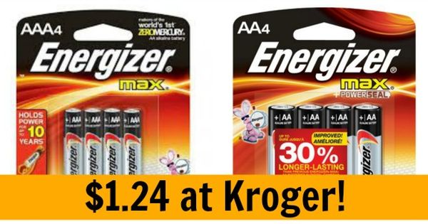 Kroger Energizer Batteries Only 1 25 Become A Coupon Queen Energizer Battery Energizer Kroger