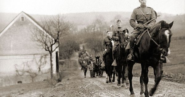 The U.S. Cavalry in Belgium, during World War I